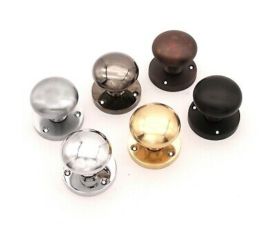 £14.95 • Buy Solid Brass Victorian Round Mortice Latch Door Knobs Polished Sprung Pull Handle