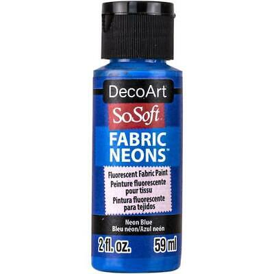 DecoArt SoSoft Neon Acrylic Fabric Paint 59ml (2oz) • 3.49£