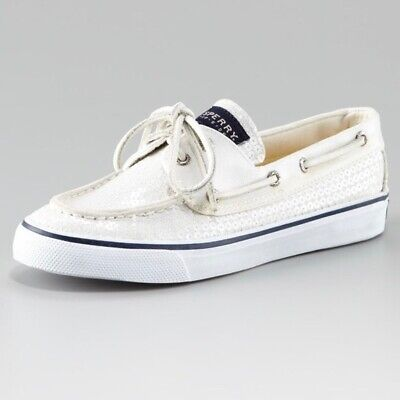 SPERRY Top-Sider NEW $89 Bahama Sequin Embellished Boat Shoes Size 7 1/2 M • 44.99$
