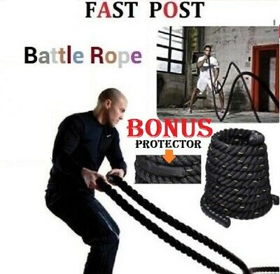 AU77.90 • Buy 9M Heavy Home Gym Battle Rope Battling Strength Training Exercise Fitness Power