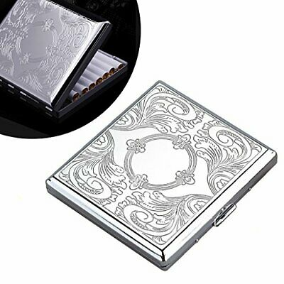 NEW Metal Cigarette Case Box Holds 20 Cigarettes 84mm UK STOCK • 17.64£