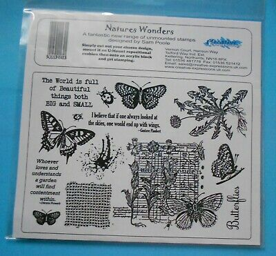 £6.75 • Buy NATURES WONDERS  CREATIVE EXPRESSIONS 14 Unmounted Grey Rubber Stamps Sam Poole