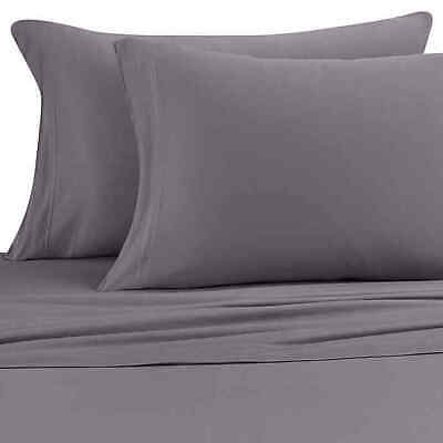 Pure Beech Jersey Knit Modal Twin XL Sheet Set In Charcoal • 39.99$