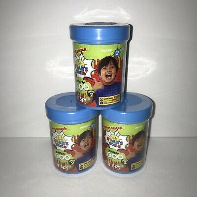 AU24.41 • Buy NEW Ryan's World Mystery Goo Series 2 Lot Of 3 Blind Canisters Surprise Colors