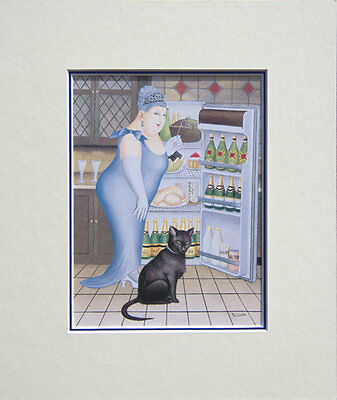 Beryl Cook Percy Mounted Print • 14.95£