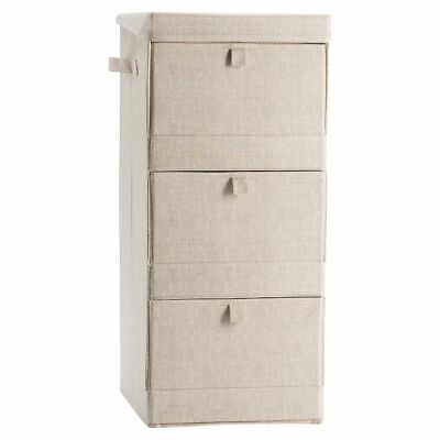 $27.96 • Buy NWT Pottery Barn PB Teen Solid Canvas 3 Tier Storage Cubby Bin, Linen Natural