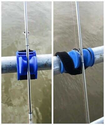 AU17.50 • Buy Pair Pier Rail Railing Boat Rod Rest Holder Silicone Velcro Special Offer