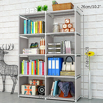 AU41.66 • Buy 8 Cube Storage Shelf Rack Bookcase Cabinet Organizer Bookshelf Book Display Unit