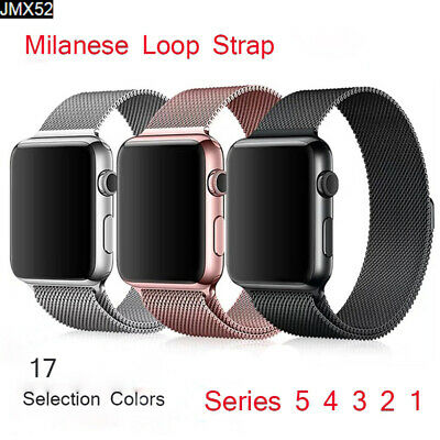 $ CDN5.95 • Buy Milanese Loop Magnetic For Apple Watch Strap 44/42/40/38mm Iwatch Band 5 4 3 2 1