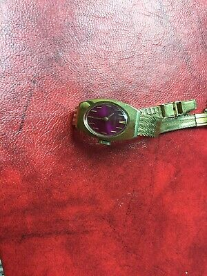 $ CDN85 • Buy Vintage Seiko Ladies Watch With Burgandy Face