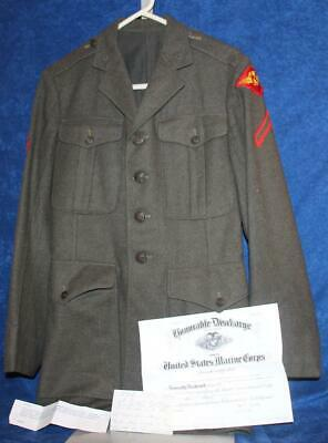 $49.98 • Buy WW2 USMC ENLISTED WOOL AIRCRAFT FUSELAGE 1st WING JACKET DATED 1942 NAMED