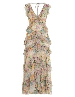 $328 • Buy New With Tag Zimmermann Ninety-Six Flutter Dress Size 1