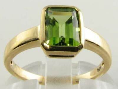 £259 • Buy Quality 9k 9ct Gold Aaa Peridot Art Deco Ins Solitaire Ring Free Resize