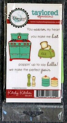 Taylored Expressions: Kitchy Kitchen 3x5.5  Rubber Cling Stamp Set • 4.95$