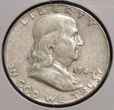 Franklin Half Dollar - 1961-D - Overstock Sale! - $1 Unlimited Shipping -465 • 8.08$
