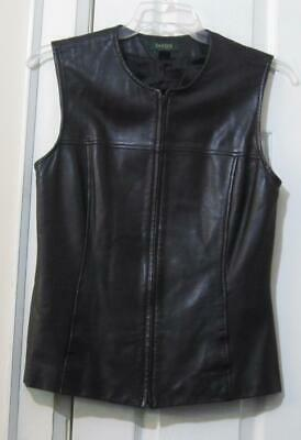 $ CDN41.99 • Buy Danier Leather Black Vest, Size Small, 100% Leather, Reduced