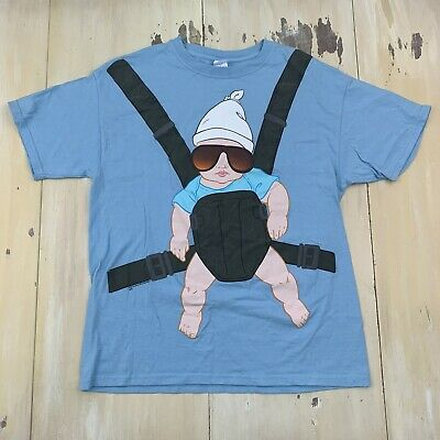 £8.62 • Buy THE HANGOVER - Light Blue Alan Strapped Baby Movie T-shirt, Mens LARGE