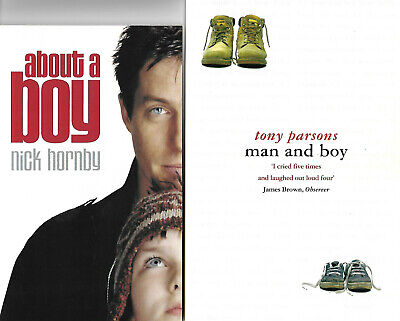 2 Books: NICK HORNBY: ABOUT A BOY  TV Tie-in Ed. And TONY PARSONS: MAN AND BOY • 1.95£