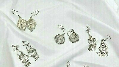 $ CDN60 • Buy Lot Of Vintage Sterling Silver Vintage Dangle Earrings