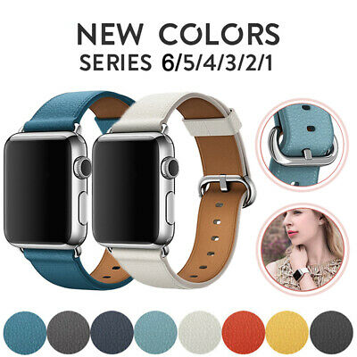 AU12.99 • Buy For Apple Watch Band Series 5 4 3 2 Genuine Leather IWatch Strap Wristbands Band