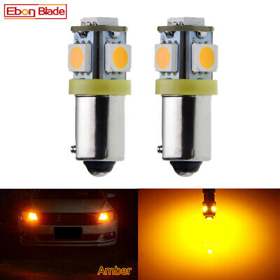 AU5.39 • Buy 2 X Amber Orange Bax9s H6W LED Car Indicator Side Wedge Parker Light Bulb 12V DC