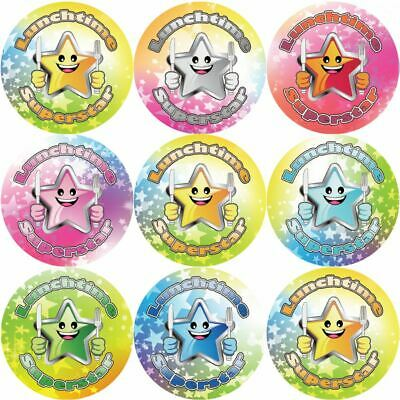 144 Lunchtime Superstar 30mm Children's Reward Stickers For Teachers And Parents • 2.97£