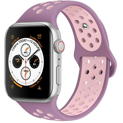 $ CDN5.43 • Buy For Apple Watch IWatch Series 3 4 5 38/40/42/44mm Soft SILICONE Sport Strap Band