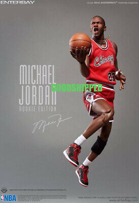 $468.88 • Buy New Authentic Enterbay Michael Jordan Mj Rookie Road Away Red Jersey 1/6 Misb