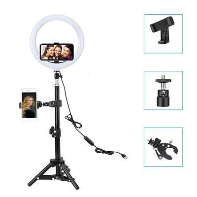 AU34.99 • Buy LED Ring Light With Stand For IPhone Selfie Makeup Photography Video Live Stream