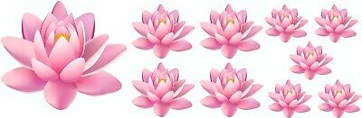 £2.99 • Buy Pink Lilly Flower Decals Stickers Graphics Nursery Wall Window Decorations Art