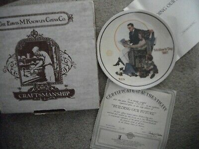 $ CDN8.28 • Buy Norman Rockwell Mother's Day 1991 Numbered Edwin Knowles Collector Plate