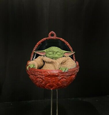 $35 • Buy Cute 3D Printed Baby Yoda X-Mas Ornaments The Manadorian- Paint