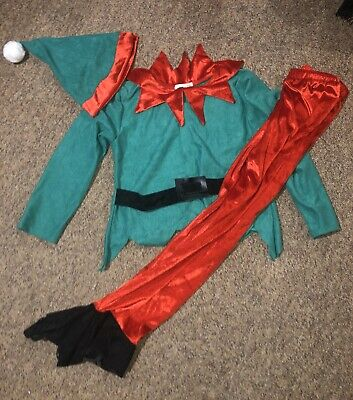 Christmas Delux Elf Costume Dress Up Boys Girls By Pretend To Bee Age 7 8 9 • 10£