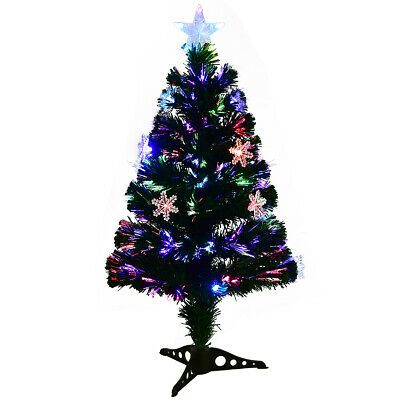 5ft Fiber Optic Christmas Tree Color Changing Snowflake Decoration • 37.59£