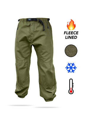 Fortis Elements Carp Fishing Fleece Lined Trail Pants / Trousers - All Sizes • 64.99£