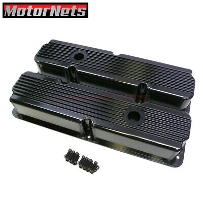 Big Block Ford FE Black Fabricated Fin Aluminum 352-428 Valve Cover Hot Rod Tall • 189.96$