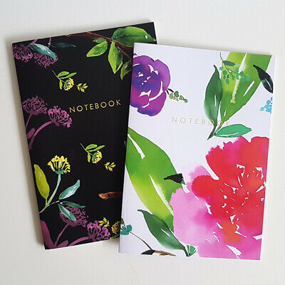 AU25 • Buy A5 Bullet Dot Journal Lined Artist Floral Notebooks Pack Set Of 2 Free Shipping