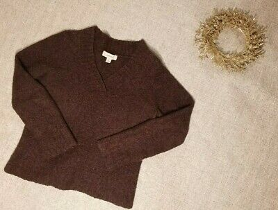 $11.87 • Buy Women's Merona V-Neck Wool Acrylic Brown Long Sleeve Pullover Sweater Size S