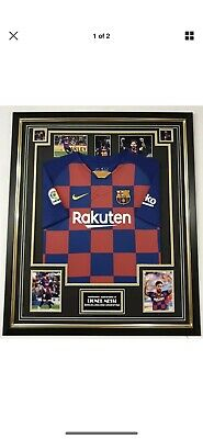 AU812.64 • Buy LIONEL MESSI Of Barcelona Signed Photo With Jersey Shirt Autographed Display
