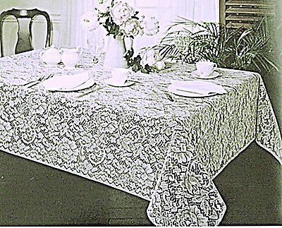 $38.50 • Buy Julia 60x84 White Lace Tablecloth Rectangle Oxford House NWT