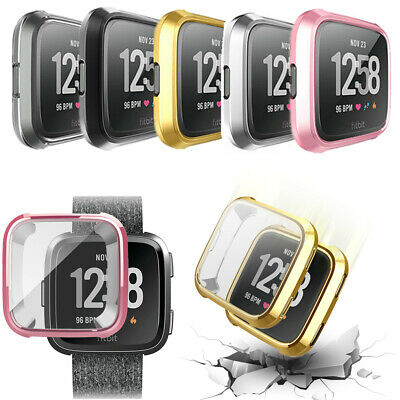 $ CDN7.92 • Buy Band Protector Bumper Full Coverage Soft Cover Watch TPU Case For Fitbit Versa