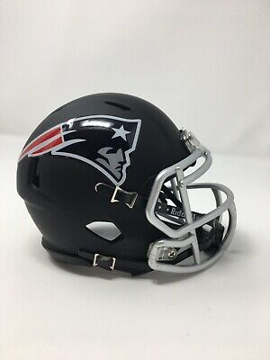$45.99 • Buy PATRIOTS Custom Matte Black Riddell Speed Mini Helmet
