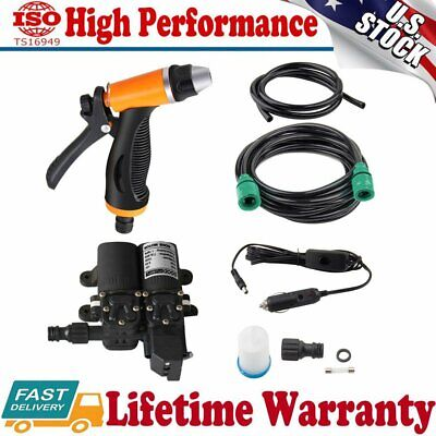 High Pressure Portable 12V Car Clean Electric Washer Water Pump Self-Priming Kit • 39.99$
