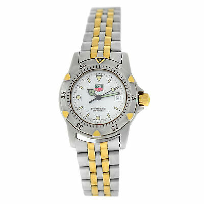 Ladies Tag Heuer Professional WD1421-PO Steel Yellow Gold Date Quartz 28MM Watch • 310.50$