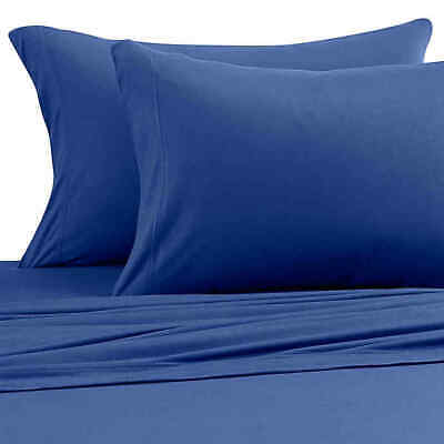 Pure Beech Jersey Knit Modal King Sheet Set In Navy • 79.99$