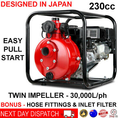 AU321.81 • Buy Fire Fighting Water Transfer Pump Firefighter High Fighter Petrol Irrigation 8hp