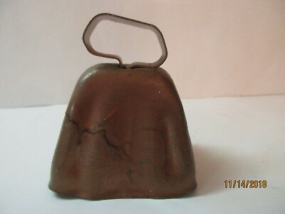 Vintage Antique Copper Cow Bell 3 1/2  Tall • 34.99$