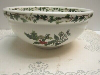 Portmeirion The Holly And The Ivy Large Salad Bowl Oven To Table-Made In Britain • 58$