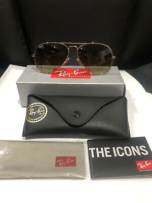 AU105 • Buy Ray-ban Aviator Gradient Brown Lens Gold Frame Rb3025 Size 58 Sunglasses New