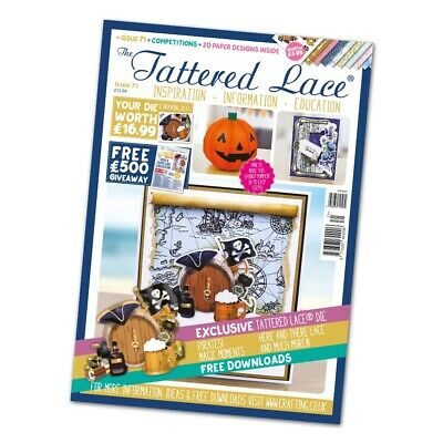 NEW Tattered Lace Issue 71 Magazine With FREE Pirates Die & Frame - CLEARANCE • 10.95£